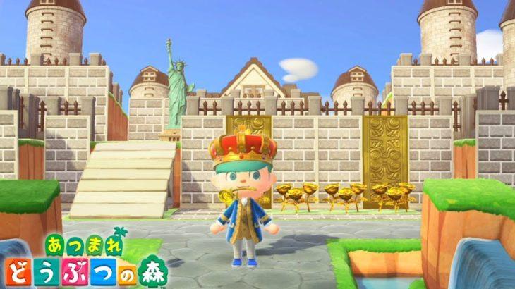 """【あつ森】超大金持ちの""""中世の城""""を完全再現した島クリエイターの本気の島がヤバすぎるww これを見れば、誰でも真似ができるコツ紹介◎【あつまれどうぶつの森:てるとくん】"""