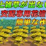 【あつ森攻略】雑草と化石が出現しない超効率的な花壇の作り方【あつまれ どうぶつの森】