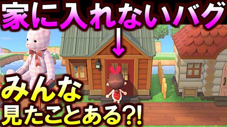 (あつ森)[新しいバグが判明!]誰か助けて!住民の家に入れないんだけど!(あつまれどうぶつの森)