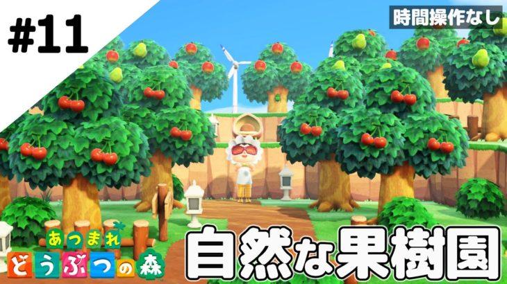 【あつ森】自然な果樹園を作ってみる。時間操作をしない街作り!【あつまれ どうぶつの森】