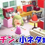 【あつ森】可愛いキッチンを作りながら小ネタを紹介!おしゃれに部屋の家具をレイアウトするぞ!【あつまれどうぶつの森 島紹介】