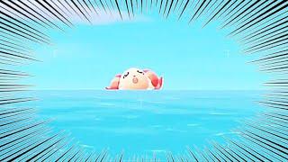【あつ森】『ヤバいぞ!!!』海で溺れるちゃちゃまるを実況する【あつまれどうぶつの森】【どう森】【アナウンサー】【ゲーム実況】