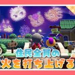【あつ森#61】住民全員の花火を打ち上げたい‼︎【マイデザイン配布】【あつまれどうぶつの森】【Animal Crossing】【女性実況者】【TAMAchan】