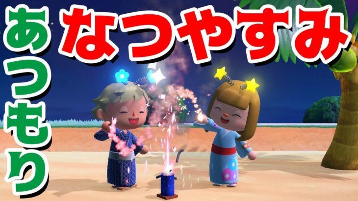 【ゲーム遊び】あつまれ どうぶつの森 あつ森学校の夏休み しあわせ島で遊びまくるぞ【アナケナ&カルちゃん】あつ森 Animal Crossing: New Horizons