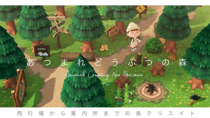 【あつ森】飛行場〜案内所まで山の小道をイメージした島整備|あつまれどうぶつの森|Animal Crossing New Horizons|サブ島|