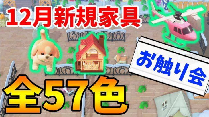 【あつ森】概要欄必読!12月新規家具色違い全57色お触り会!!#5【あつまれ どうぶつの森】