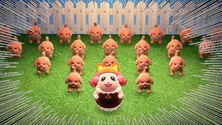【あつ森】『あつまれ!』犬の大群を従えるちゃちゃまるを実況する【あつまれどうぶつの森】【アナウンサー】【たいきち】【ゲーム実況】