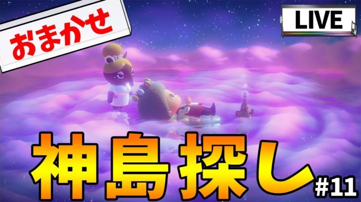 【あつ森】ゆめみのおまかせ機能使って神島探し!!#11【あつまれ どうぶつの森】