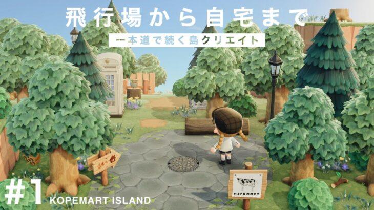 【あつ森】飛行場から一本道で続く島クリエイト【コペマート島】
