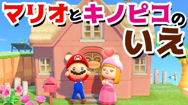 【ゲーム遊び】あつまれ どうぶつの森 マリオとキノピコのいえ【アナケナ&カルちゃん】あつ森 Animal Crossing: New Horizons