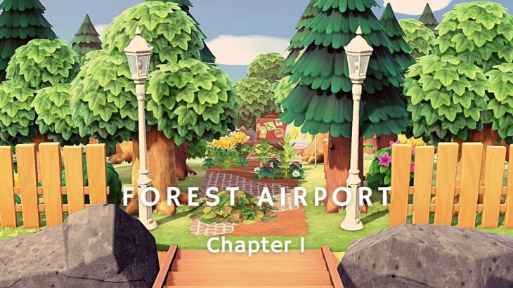 【あつ森】森の飛行場|Forest Airport【Case3:Flowery Spring-Bright Summer|島クリエイター】