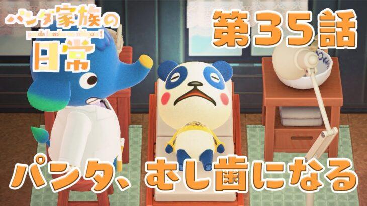 【あつ森アニメ】パンダ家族の日常#35「パンタ、むし歯になる」