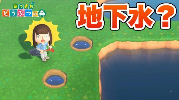 【あつ森】穴を掘ったら水湧いてきた!?【あつまれどうぶつの森】