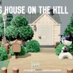 【あつ森】丘の上のビンタの家(住宅街作り)【マイデザなしで島作り】