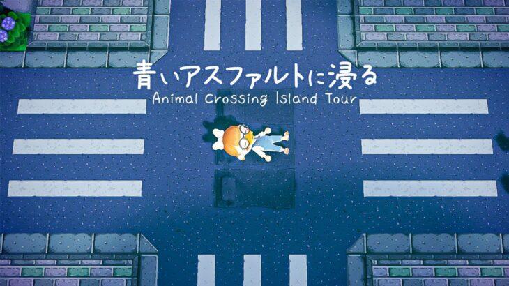 【島訪問】この発想はなかった………道・家・住民 全てが青に染まる島🐳【島紹介   あつ森   あつまれどうぶつの森】
