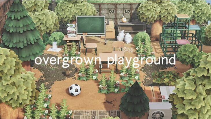 【あつ森】森に呑まれた廃公園 | overgrown playground | SpeedBuild | Animal Crossing New Horizons | acnh